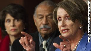 Pelosi meets with, says she believes Conyers accuser Melanie Sloan