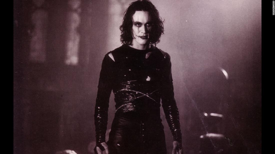 "<strong>""The Crow""</strong>: Star Brandon Lee tragically died after being shot with a prop gun on the set of this film about a man who returns from the dead to avenge his murder. <strong>(Hulu) </strong>"