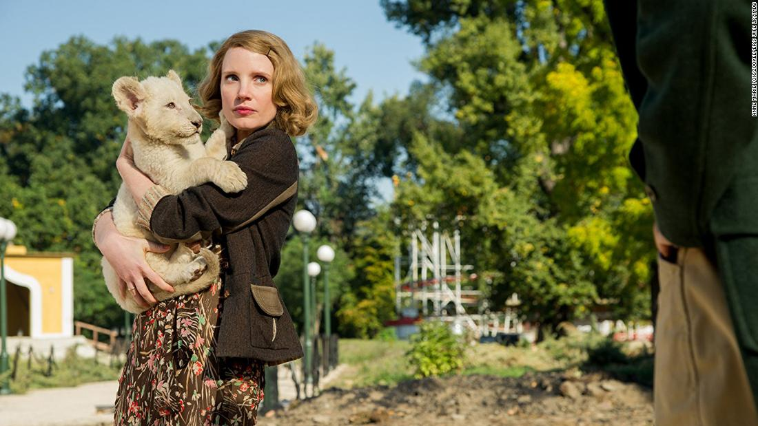 "<strong>""The Zookeeper's Wife""</strong>: Jessica Chastain stars in this 2017 war drama about the true story of Jan and Antonina Żabiński, who rescued hundreds of Jews from the Germans by hiding them in their zoo during World War II. <strong>(HBO Now) </strong>"