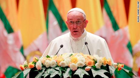 Pope Francis avoids mention of Rohingya in Myanmar speech