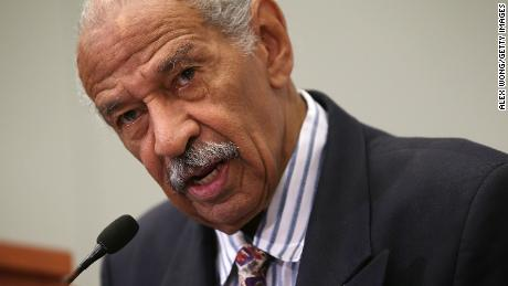 "U.S. Rep. John Conyers (D-MI) speaks at a session during the Congressional Black Caucus Foundation's 45th annual legislative conference September 18, 2015 in Washington, DC. Rep. Conyers spoke during a discussion on ""Judiciary BrainTrust: In Pursuit of Policing and Criminal Justice Reform"""