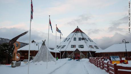 A Sami activity center in the village of Drag in the Norwegian Tysfjord municipality, where police have uncovered 151 cases of sexual assault.