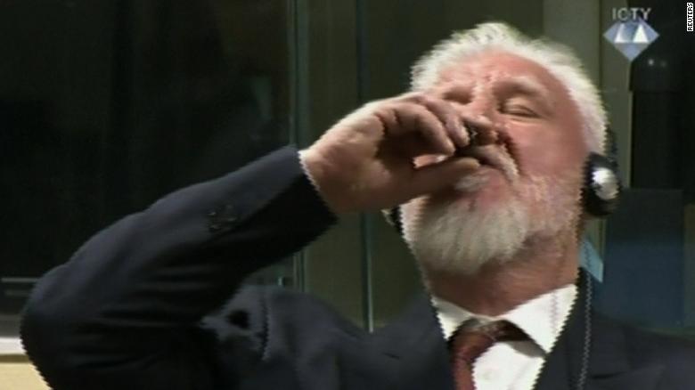 Slobodan Praljak General >> Bosnian war criminal dies after swallowing poison in court - CNN