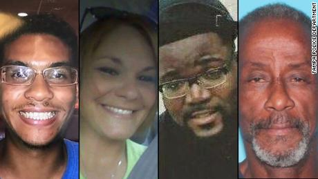 Left to right: Anthony Naiboa, Monica Hoffa, Benjamin Mitchell and Ronald Felton. Tampa homicide victims