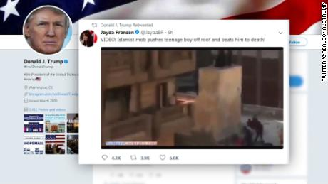 President Trump's Britain First retweets