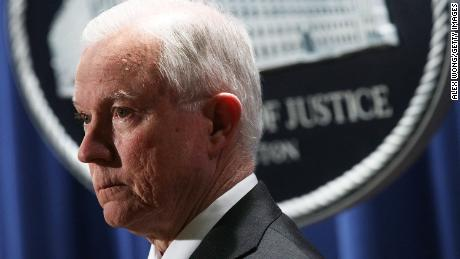 WASHINGTON, DC - NOVEMBER 29:  U.S. Attorney General Jeff Sessions listens during a news conference at the Justice Department November 29, 2017 in Washington, DC. ( Alex Wong/Getty Images)