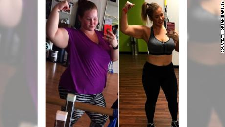 Morgan Bartley is inspiring others as she documents her weight-loss journey on Instagram.