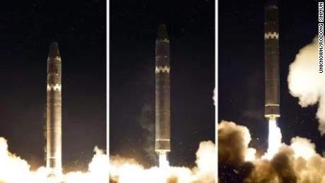 The missile was launched just before 3 a.m. on Wednesday, November 29 via a mobile launcher.