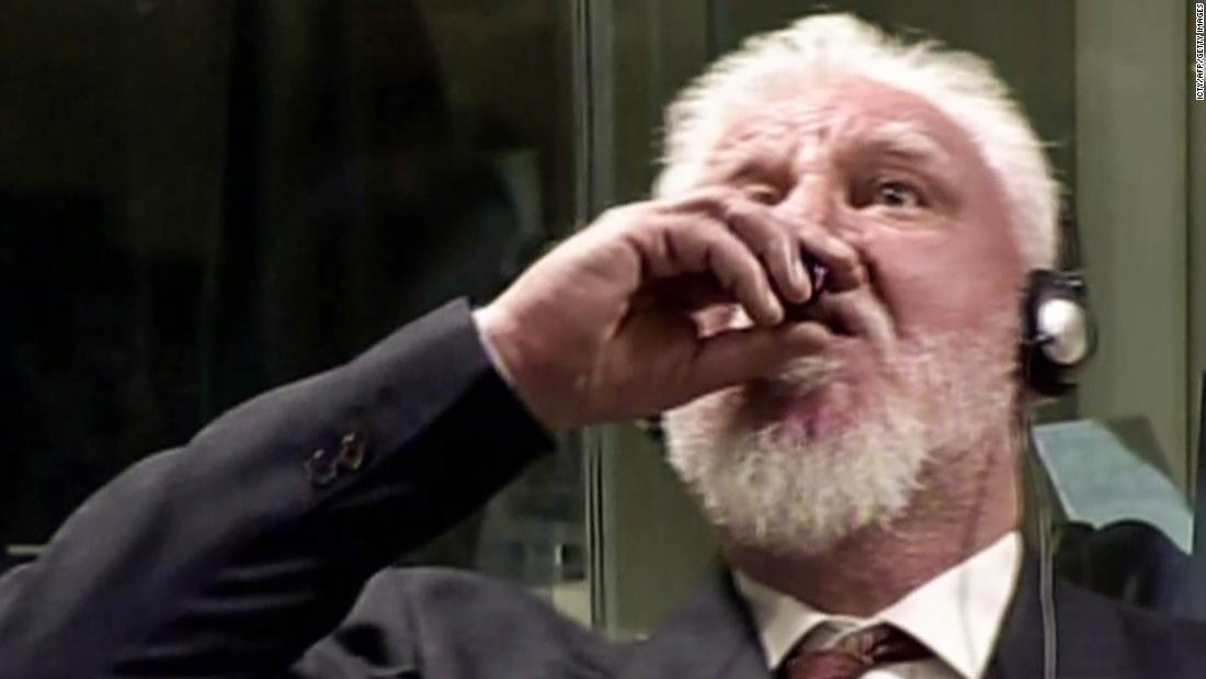 Prosecutor: Bosnian Croat war criminal died of heart failure caused by cyanide