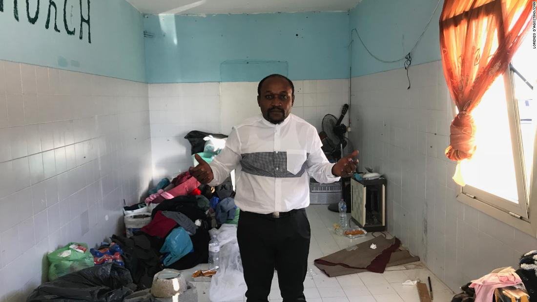 Pastor Charles, at the Nigerian church in the Runway Ghetto.
