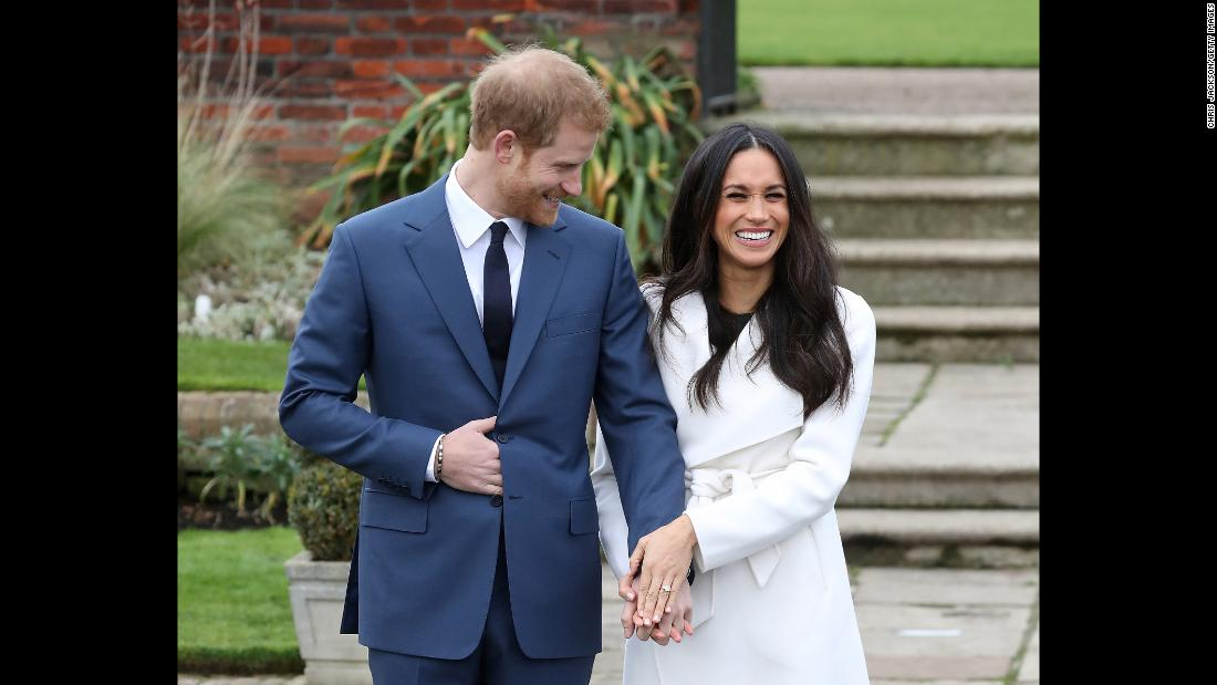 "Britain's Prince Harry and his girlfriend, actress Meghan Markle, pose for photos in London following <a href=""http://www.cnn.com/2017/11/27/europe/prince-harry-meghan-markle/index.html"" target=""_blank"">the announcement of their engagement</a> on Monday, November 27. <a href=""http://www.cnn.com/2012/08/22/world/gallery/prince-harry-timeline/index.html"" target=""_blank"">See photos of Prince Harry through the years</a>"