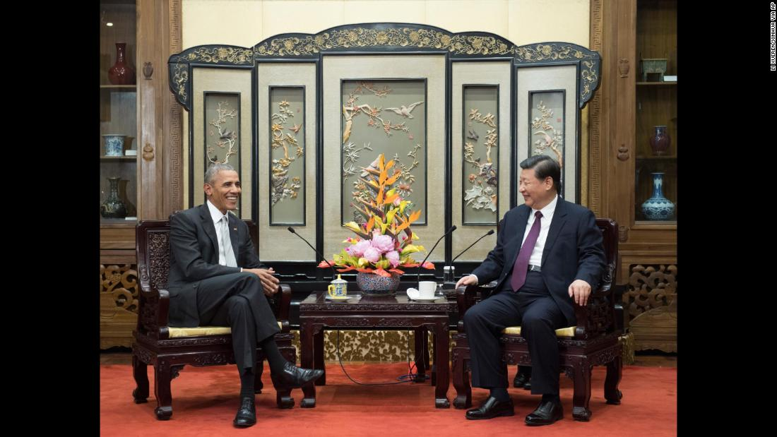 "Former US President Barack Obama, left, meets with Chinese President Xi Jinping in Beijing on Wednesday, November 29. Obama was on <a href=""http://www.cnn.com/2017/11/28/politics/obama-foreign-trip-china-india-france/index.html"" target=""_blank"">a five-day trip</a> that would also take him to India and France to meet with many of his former counterparts."