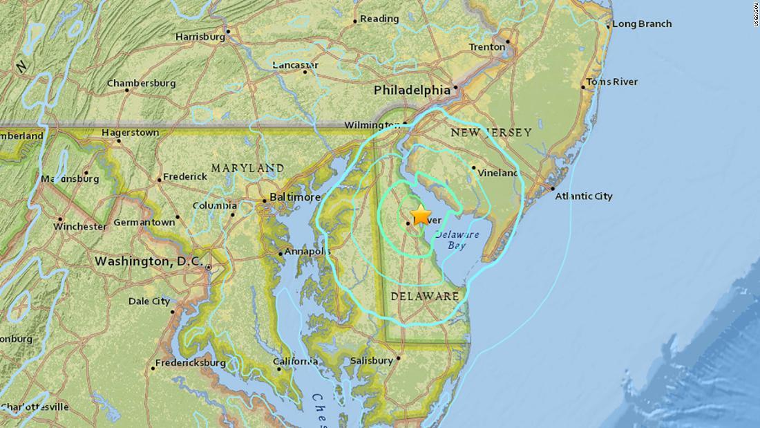Delaware earthquake registers at 4.1