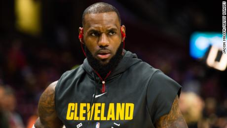 CLEVELAND, OH - NOVEMBER 17: LeBron James #23 of the Cleveland Cavaliers warms up prior to the game against the LA Clippers at Quicken Loans Arena on November 17, 2017 in Cleveland, Ohio. NOTE TO USER: User expressly acknowledges and agrees that, by downloading and/or using this photograph, user is consenting to the terms and conditions of the Getty Images License Agreement. (Photo by Jason Miller/Getty Images)