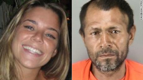 Kate Steinle, left, and Jose Ines Garcia Zarate