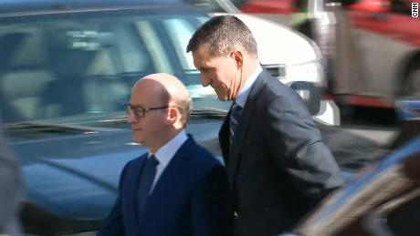 See Michael Flynn walk into court