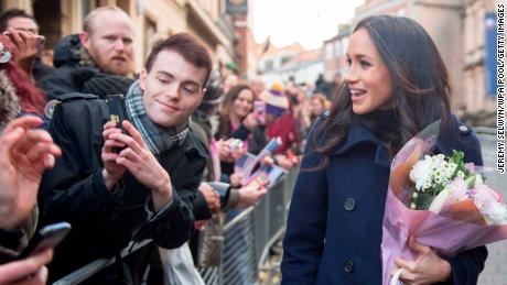 Markle appeared confident during her first official public engagement.