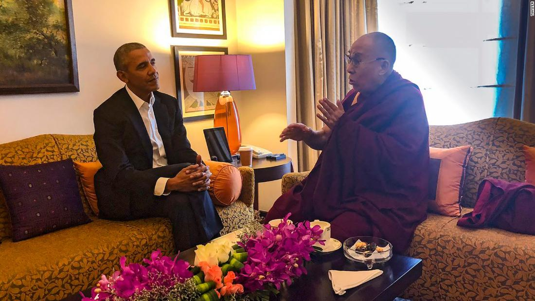Obama Meets With Dalai Lama In New Delhi Cnnpolitics