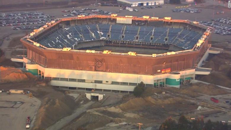 Silverdome still stands after botched implosion