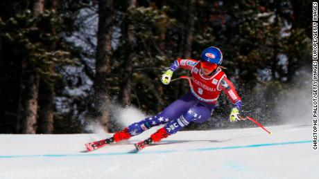 Mikaela Shiffrin triumphed on a shortened downhill course at Lake Louise.