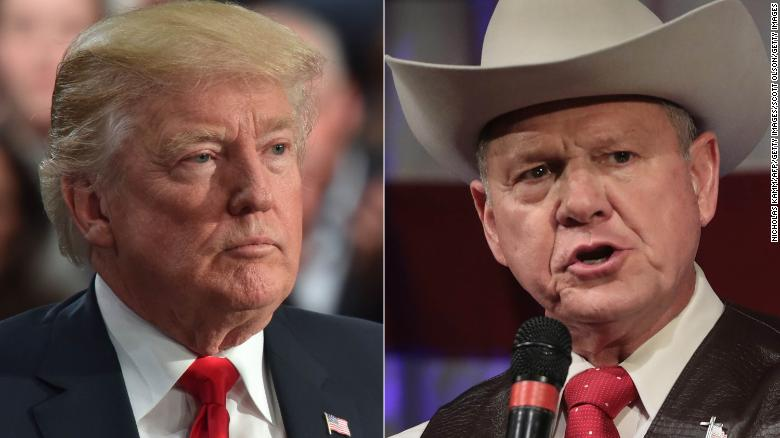 Trump records robocall for Roy Moore