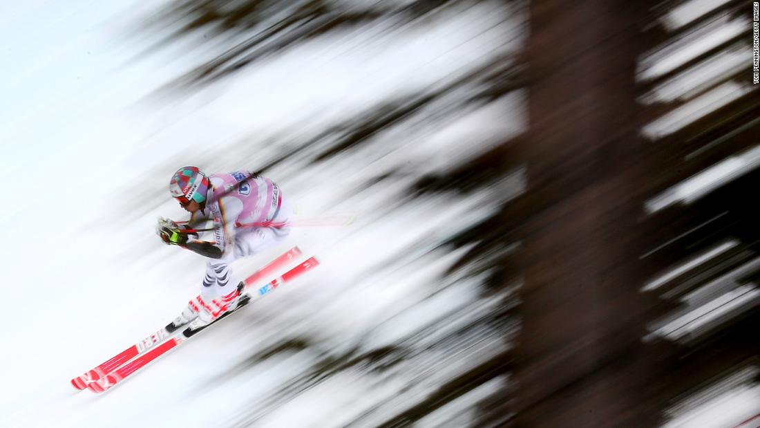German skier Stefan Luitz competes in the giant slalom during a World Cup event in Beaver Creek, Colorado, on Sunday, December 3. He finished in third.