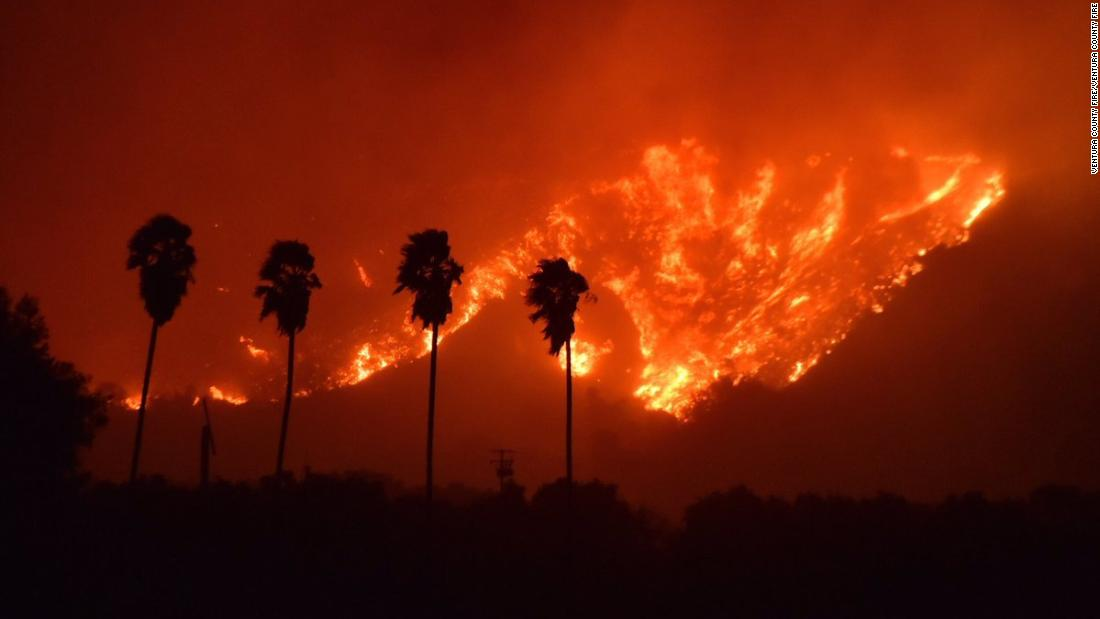 Ventura fire is 'out of control,' forcing thousands to evacuate