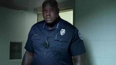 Shaq plays police chief for a day
