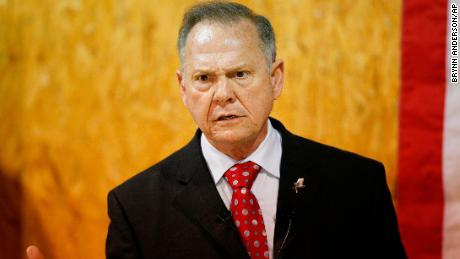 Former Alabama Chief Justice and U.S. Senate candidate Roy Moore speaks at a campaign rally, Thursday, Nov. 30, 2017 in Dora, Ala. (AP/Brynn Anderson)