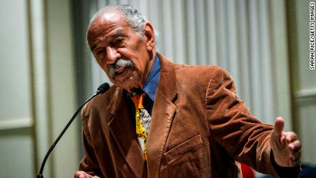 DETROIT, MI - DECEMBER 22:  U.S. Rep. John Conyers, (D-MI), speaks at a town hall meeting for Congressman Keith Ellison at the Church of the New Covenant-Baptist on December 22, 2016 in Detroit, Michigan. Ellison, a candidate to lead the Democratic National Committee, spoke at the church where his brother Brian is a pastor.  (Photo by Sarah Rice/Getty Images)