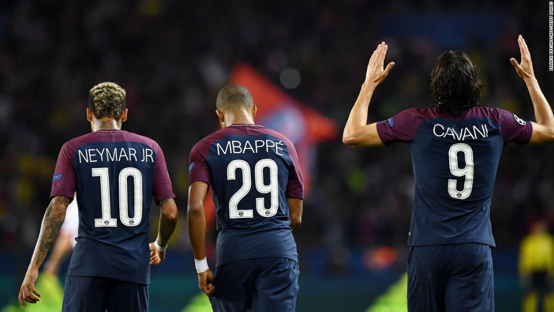 PSG have blitzed everyone in their path on the way to scoring an all-time record 25 goals in the Champions League group stages. Edinson Cavani, Kylian Mbappe and world record signing Neymar have been at their scintillating best, with the standout performance coming as they hammered Bayern Munich 4-0 in Paris. The reverse fixture in Germany, however, brought the star-studded team back down to earth somewhat as Unai Emery's side were comfortably beaten 3-1.