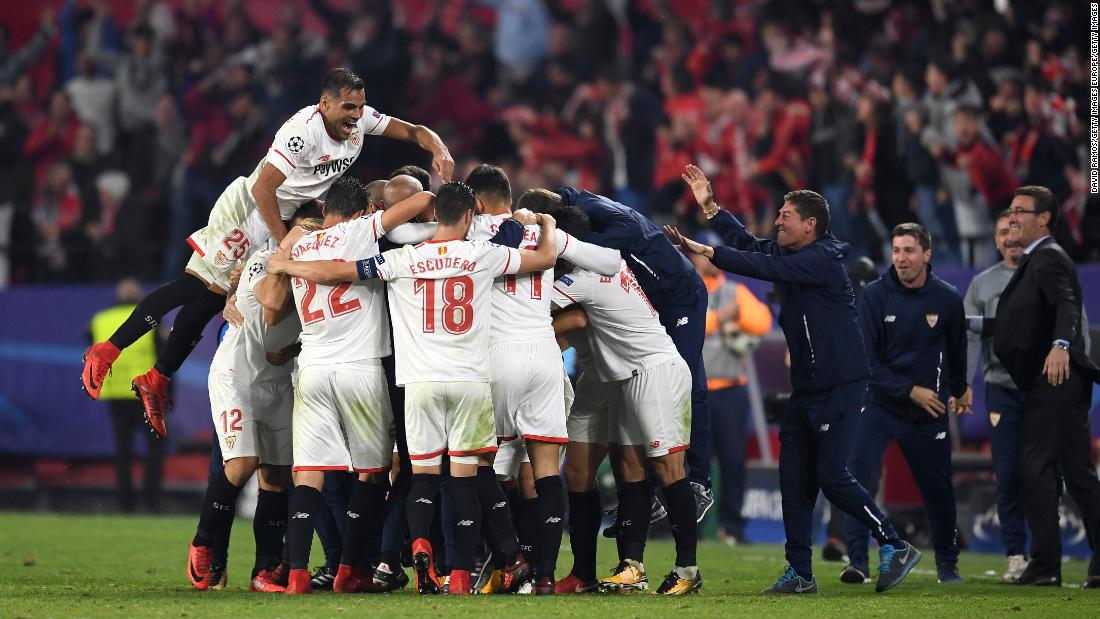 One of the defining images of the Champions League so far came as Sevilla fought back from three goals down to earn a draw at home to Liverpool. After Guido Pizarro scored the last-minute equaliser, the team ran to celebrate with manager Eduardo Berizzo who, just days earlier, told his players he has been diagnosed with cancer. The Argentine has since undergone successful surgery and is looking forward to a return to the dugout.