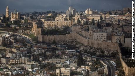 Jerusalem's Old City is seen from the Mount of Olives in a file image from January 2017.