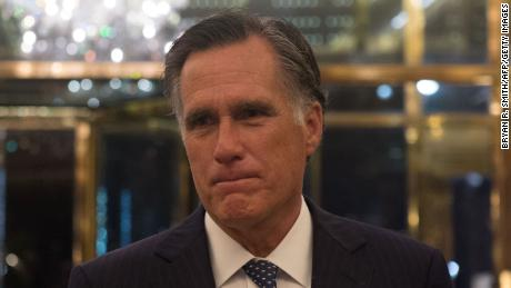 Mitt Romney speaks to the media after meeting with US President-elect Donald Trump at Trump International Hotel and Tower, Tuesday, November 29, 2016 in New York.