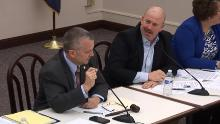 Pennsylvania State Rep. Daryl Metcalfe calls out Rep. Matt Bradford for touching his arm during a committee meeting