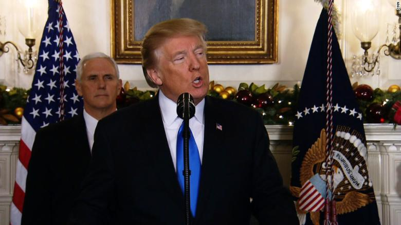 Trump recognizes Jerusalem as Israel's capital