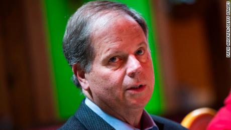 TALLADEGA, AL - NOVEMBER 20: Democratic candidate for U.S. Senate Doug Jones meets with supporters and voters at a Mexican restaurant, November 20, 2017 in Talladega, Alabama. Jones has moved ahead in the polls of his Republican opponent Roy Moore, whose campaign has been rocked by multiple allegations of sexual misconduct.
