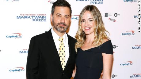 Jimmy Kimmel and his wife Molly McNearney arrive to the 2017 Mark Twain Prize for American Humor at The Kennedy Center on October 22 in Washington.