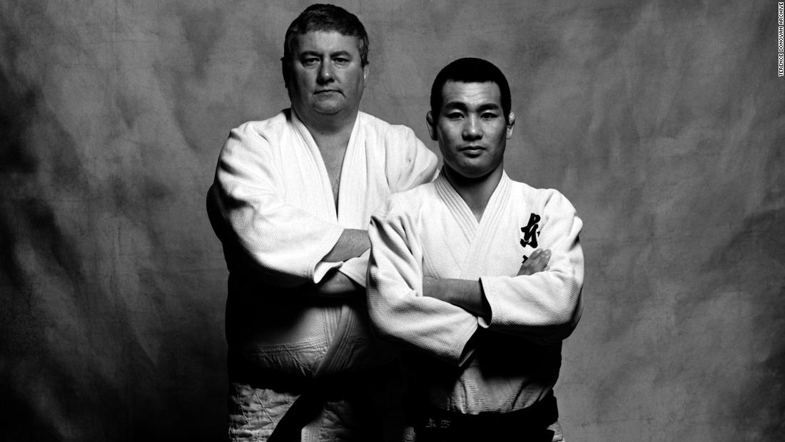 The book was a joint venture between Donovan (left) and Japanese judoka, Katsuhiko Kashiwazaki (right).