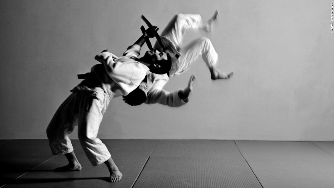 "Terence Donovan brought together his two passions of photography and judo in his 1985 book, ""Fighting Judo."""