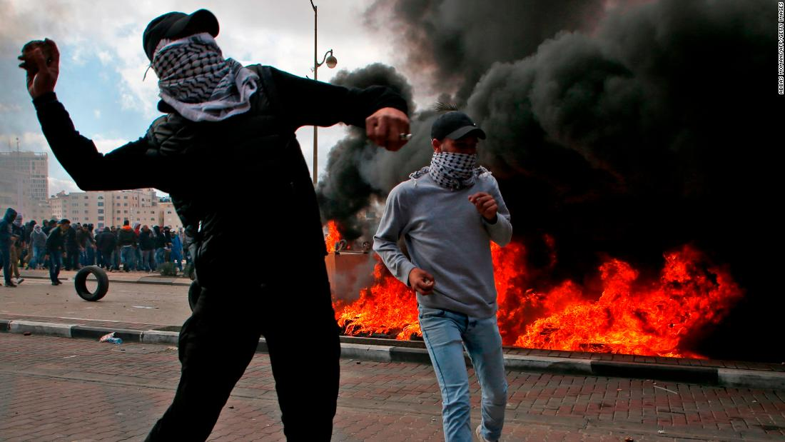 Protests break out following Trump's Jerusalem decision