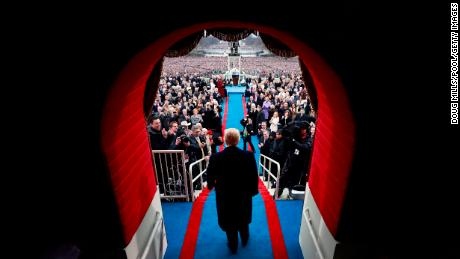 WASHINGTON, DC - JANUARY 20:  President-elect Donald J. Trump arrive at the inauguration of Donald J. Trump at the United States Capitol on January 20, 2017 in Washington, DC. Donald J. Trump became the 45th president of the United States.  (Photo by Doug Mills - Pool/Getty Images)