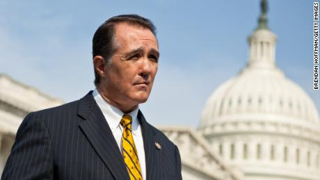 WASHINGTON - SEPTEMBER 15: Rep. Trent Franks (R-AZ) listens during a news conference for the launch of the Congressional HIV/AIDS Caucus on Capitol Hill on September 15, 2011 in Washington, DC. Franks is a co-chair of the caucus, along with Rep. Jim McDermott (D-WA) and Rep. Barbara Lee (D-CA). The bi-partisan caucus has attracted approximately 50 members. (Photo by Brendan Hoffman/Getty Images)
