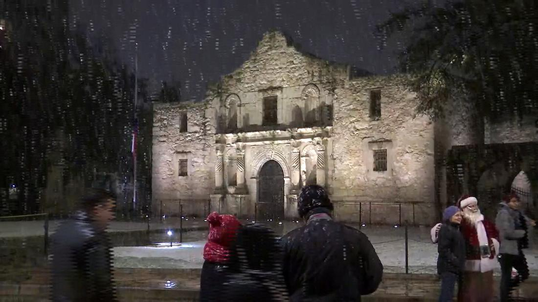 It's snowing in south Texas! Yes, you read that right