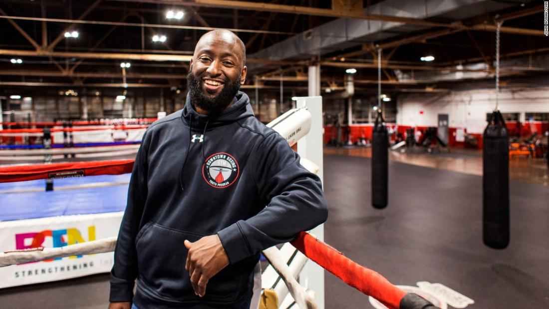 "At Khali Sweeney's Downtown Boxing Gym Youth Program in Detroit, around 100 children get training and academic tutoring five days a week. Sweeney, a high school dropout who was ""always getting into trouble, always fighting,"" turned his life around. He began mentoring at-risk and troubled kids. His efforts have landed him on the <a href=""http://www.cnn.com/specials/cnn-heroes"">2017 list of top 10 CNN Heroes</a>."