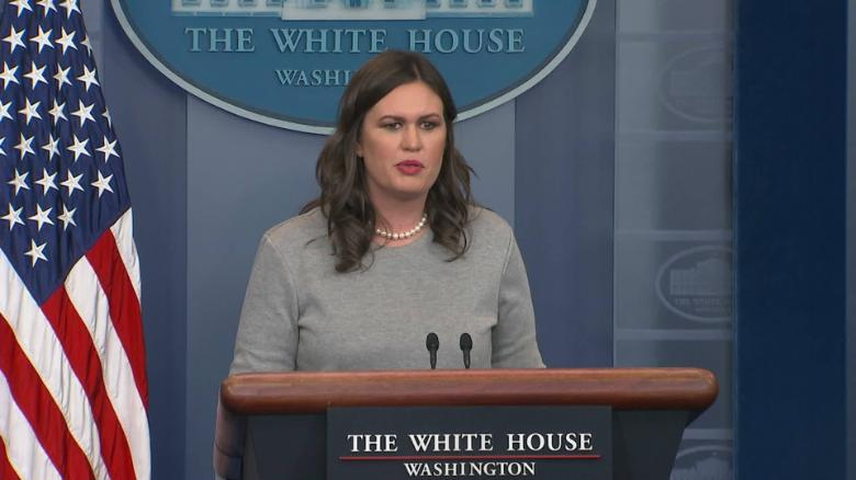 sarah sanders donald trump physical dry throat sot _00000113