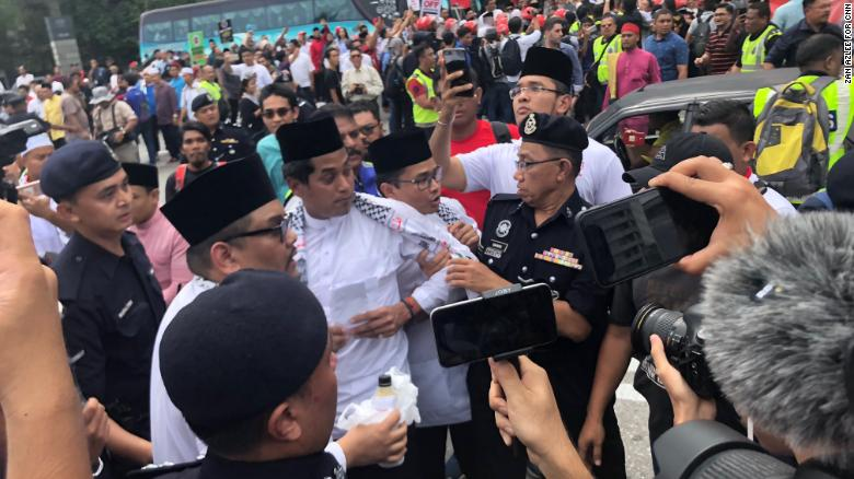 Protesters gather in Malaysia to denounce US President Donald Trump's decision on Jerusalem.