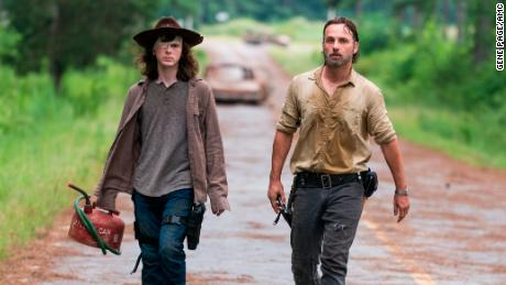 Chandler Riggs, Andrew Lincoln in 'The Walking Dead'