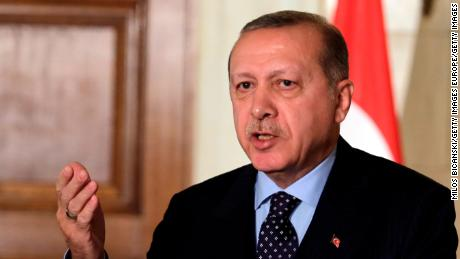 ATHENS, GREECE - DECEMBER 7: Turkish President Recep Tayyip Erdogan during a joint press conference  the  in Athens on December 7, 2017. President Recep Tayyip Erdogan , the first by a Turkish head of state in 65 years, by needling his hosts with revisionist border talk and complaints about its treatment of Muslims(Photo by Milos Bicanski/Getty Images)