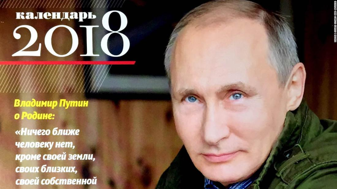 The 2018 Vladimir Putin calendar